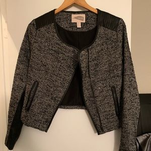 Forever 21 Tweed and Faux Leather Jacket